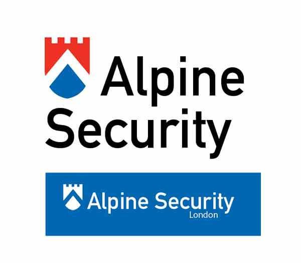 Alpine Security logo design
