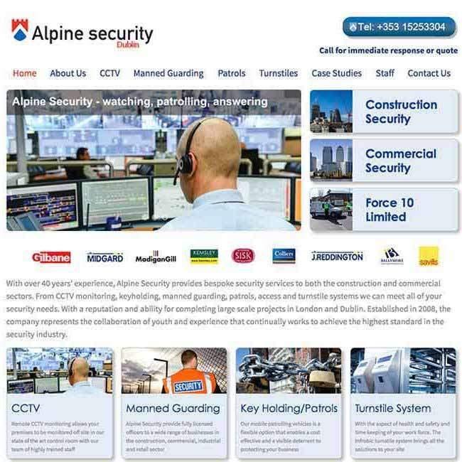 Alpine Security website design