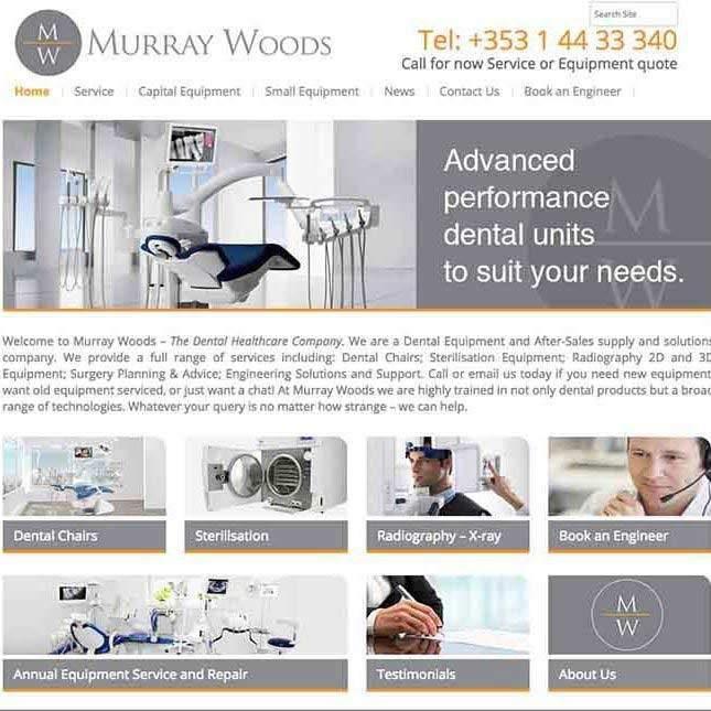 Murray Woods website design