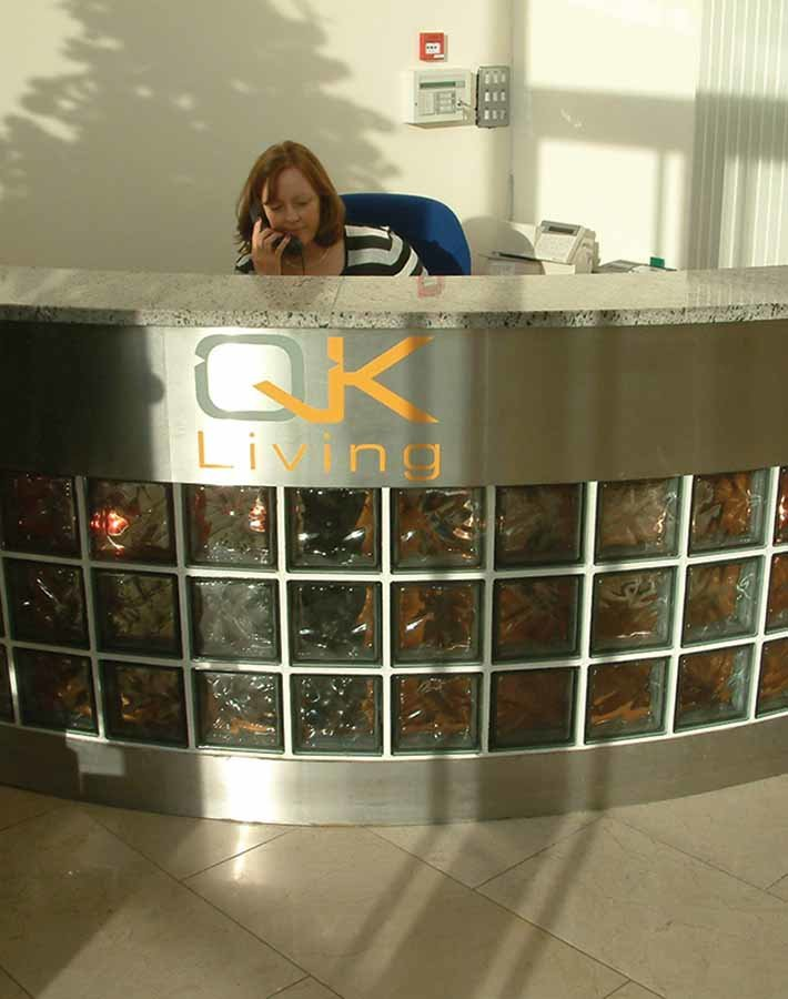 QK branding design Dublin reception