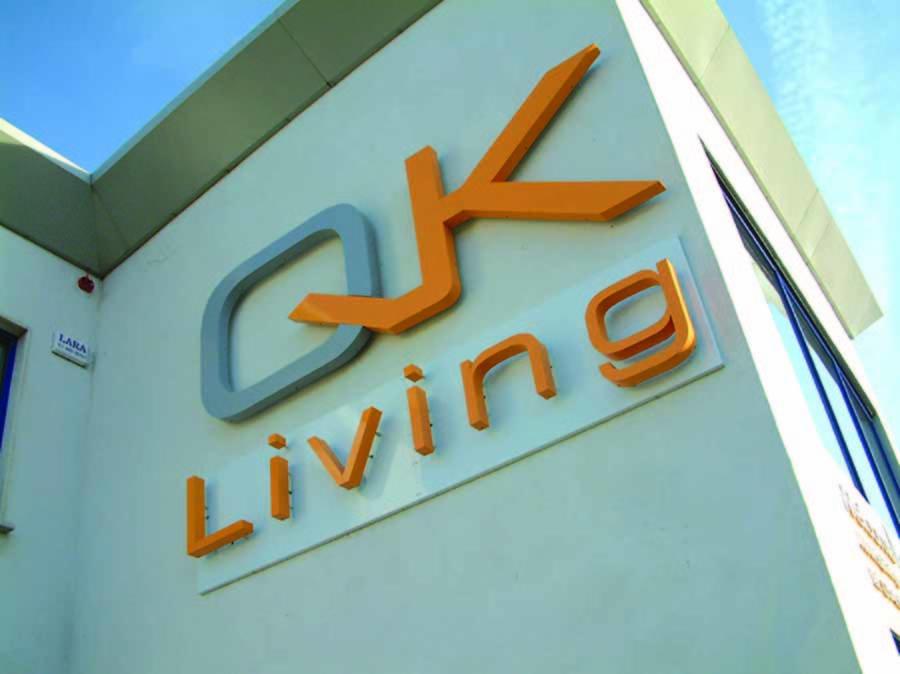 QK exterior benading signage design