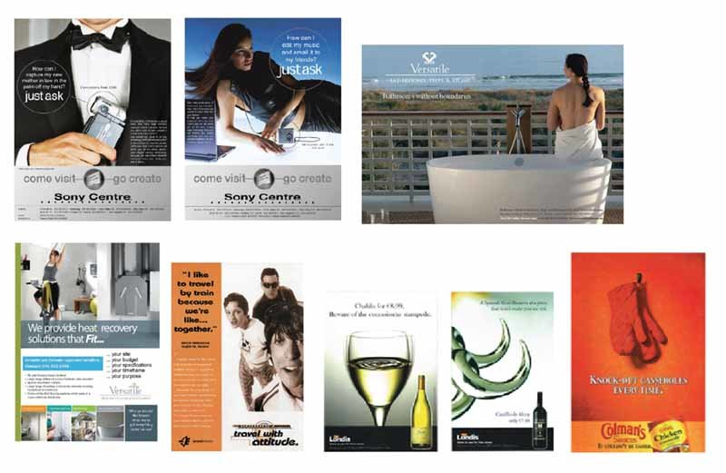 Advertising layouts