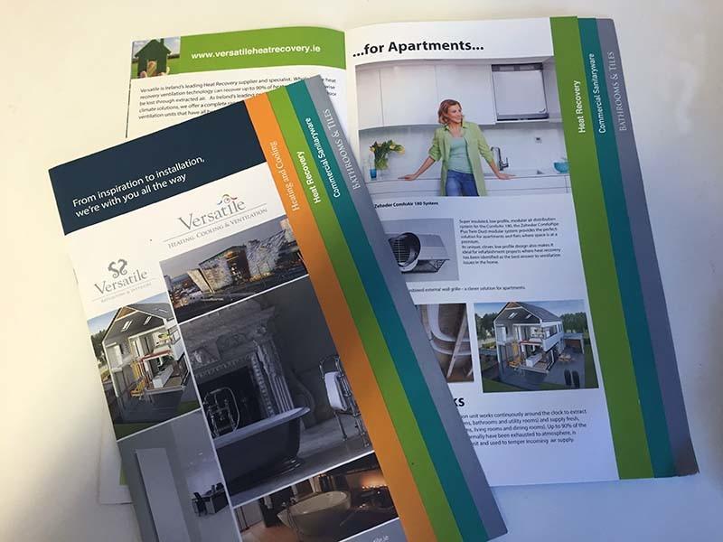 brochure design for versatile branding project