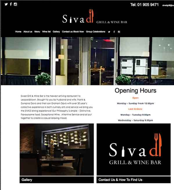 Sivad website design
