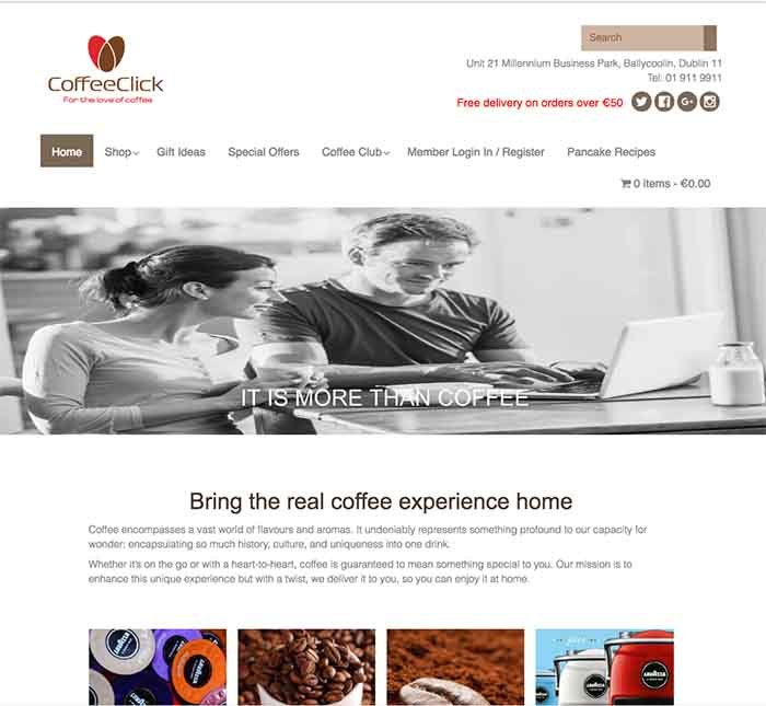 Coffeeclick website design