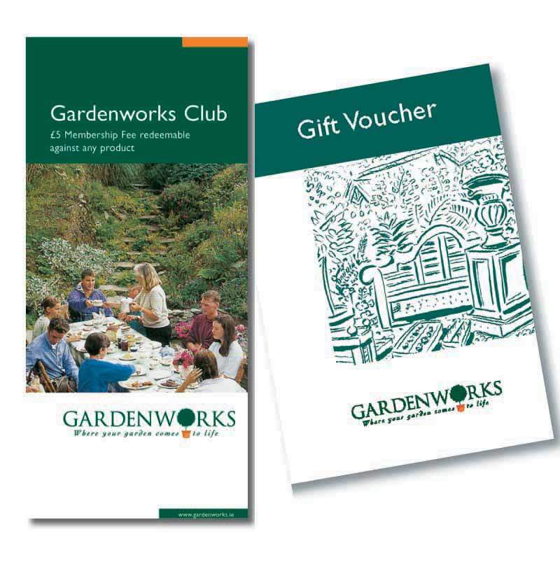 gardeneorks branding design promoitonal brochures and vouchers