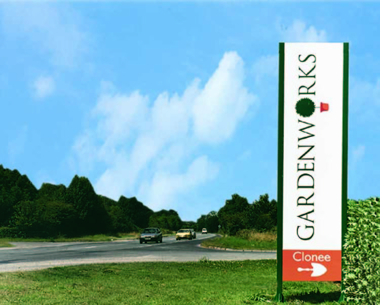 gardenworks directional sign design and branding