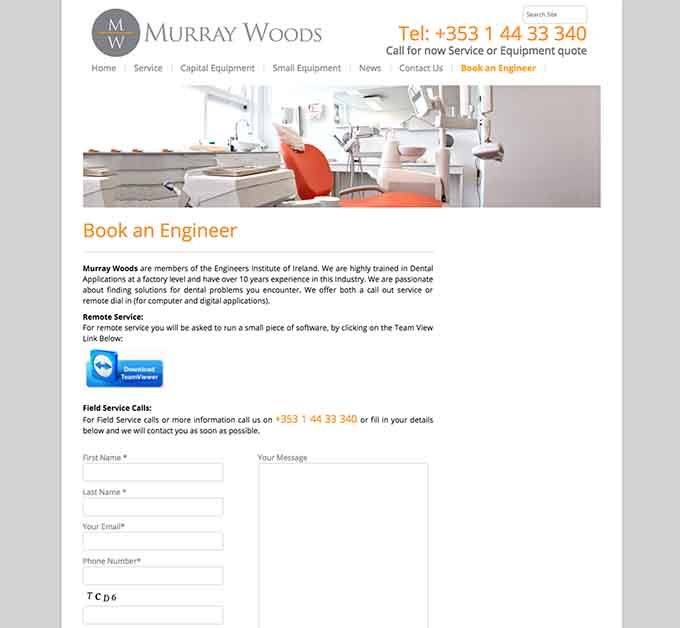 Murray Woods website design