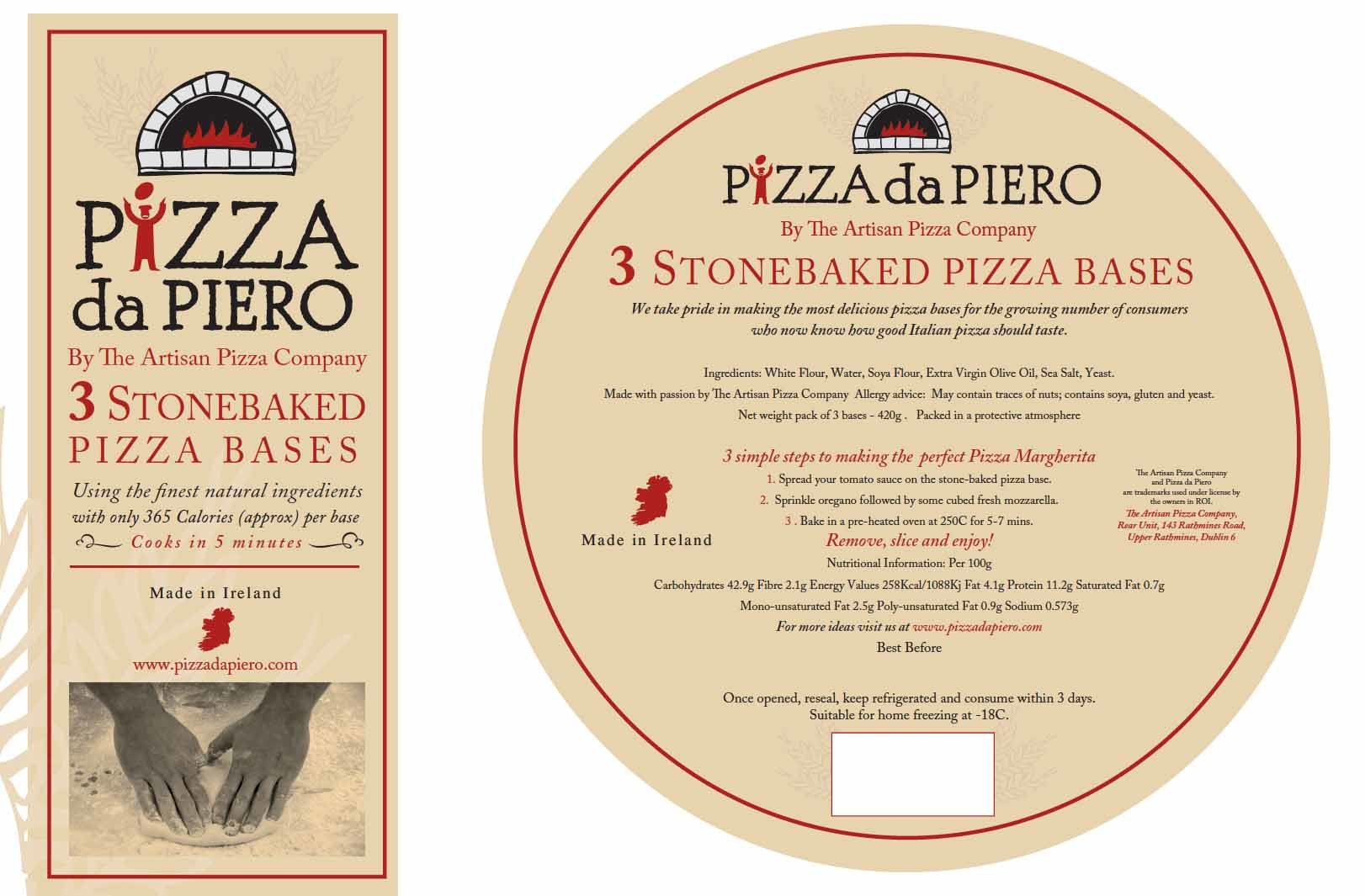 pizza logo design adn packaging