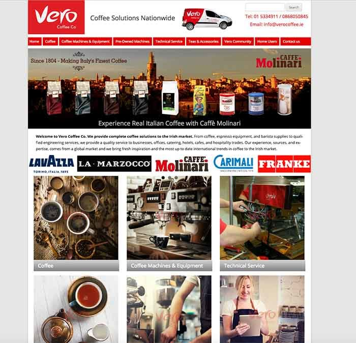 Vero Coffee website design
