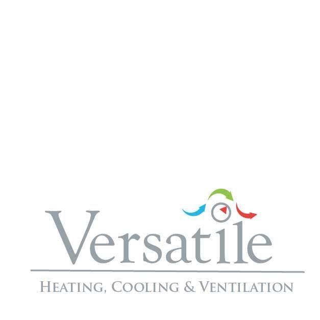 versatiel heatign and cooling logoand branding desing