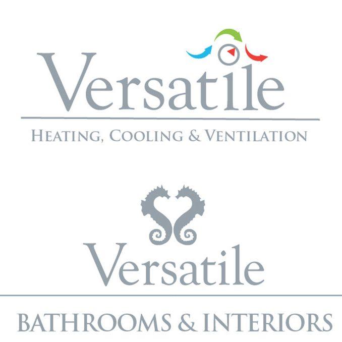 versatile group logo designa dn branding